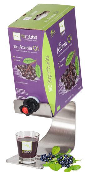 BIO Aronia Qi mit praktischem Edelstahldispenser