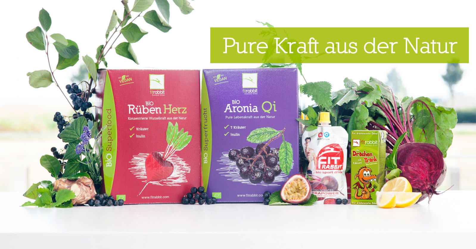 fitrabbit Functional Drinks - BIO Superfood Säfte