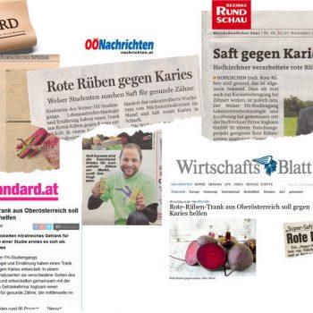 Presseberichte Rote Beete gegen Karies