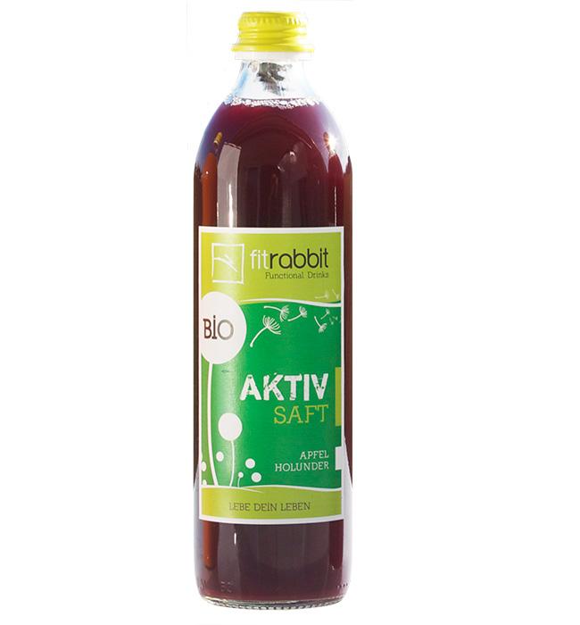 BIO Aktiv Saft - 100% Bio-Fruchtsaft - Apfel Holunder