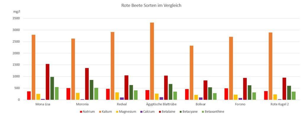 Rote Beete Sorten im Vergleich