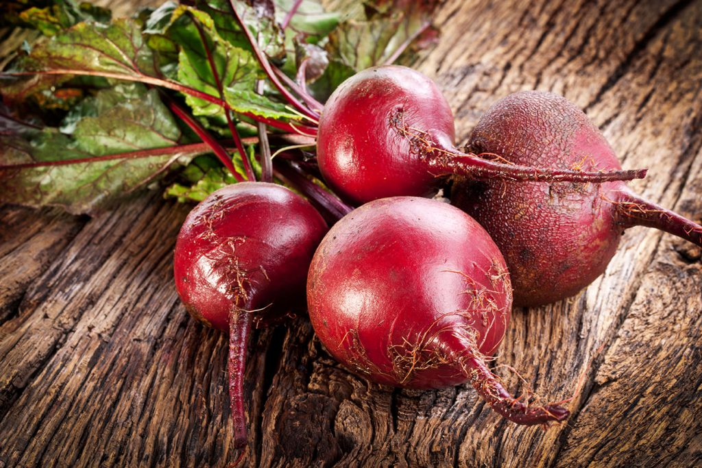 Rote Beete Knollen